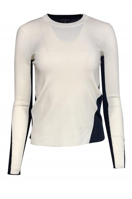 Rag & Bone Navy Ivory Merino Sweater Image 0