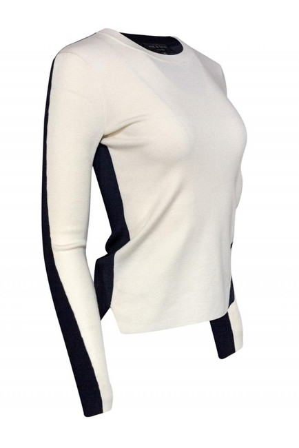 Rag & Bone Navy Ivory Merino Sweater Image 1