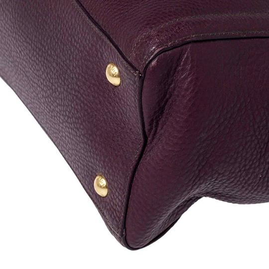 Prada Leather Nylon Logo Detail Tote in Burgundy Image 8