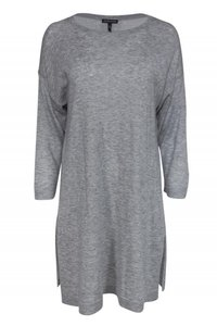 Eileen Fisher Grey Merino Wool Sweater