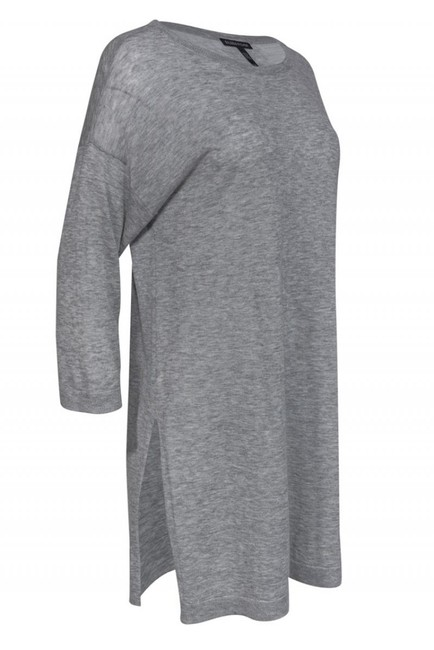 Eileen Fisher Grey Merino Wool Sweater Image 1