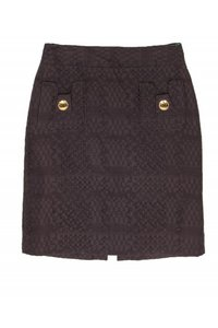 Milly Woven Texture Skirt brown
