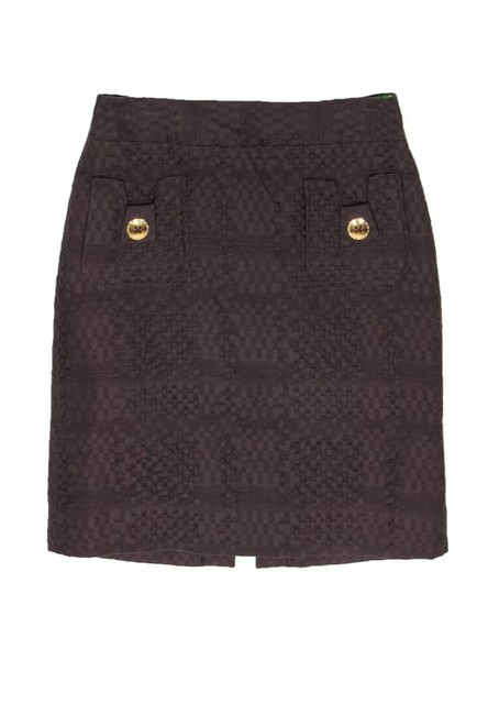 Milly Woven Texture Skirt brown Image 2