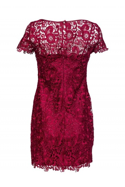 Aidan Mattox Fuchsia Lace Dress Image 2