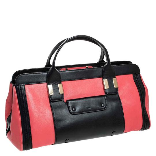 Chloé Leather Satchel in Red Image 3