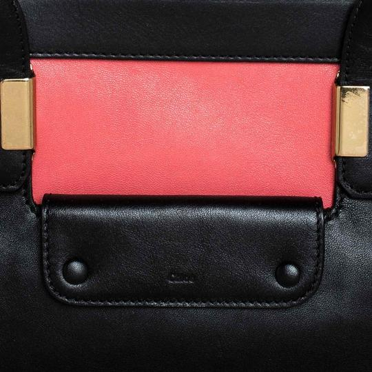 Chloé Leather Satchel in Red Image 9