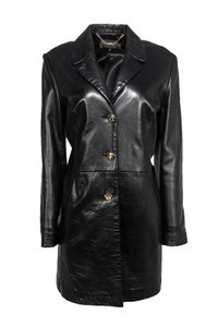 St. John Collection Leather Coat