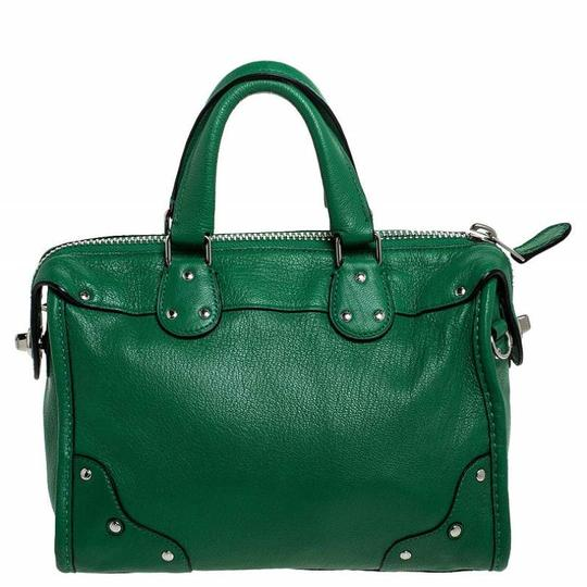 Coach Leather Mini Satchel in Green Image 1