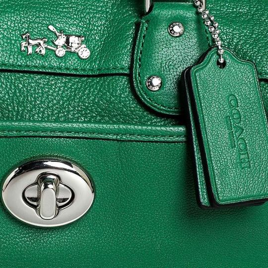 Coach Leather Mini Satchel in Green Image 10