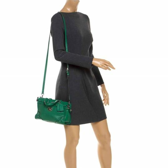 Coach Leather Mini Satchel in Green Image 2