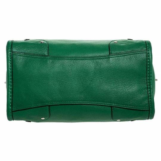 Coach Leather Mini Satchel in Green Image 4