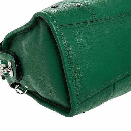 Coach Leather Mini Satchel in Green Image 5