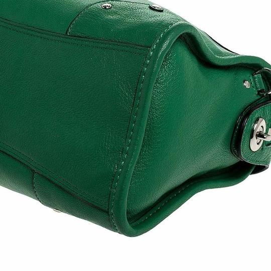 Coach Leather Mini Satchel in Green Image 6