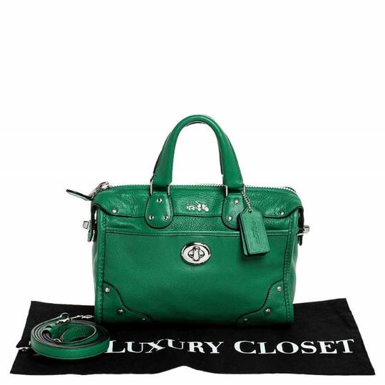 Coach Leather Mini Satchel in Green Image 9