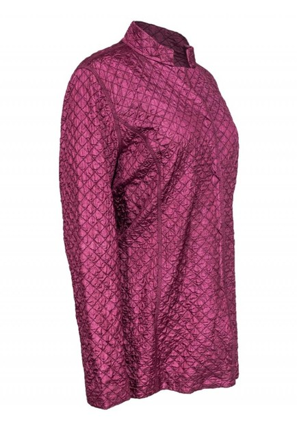 Eileen Fisher Mulberry Colored Quilted purple Jacket Image 1