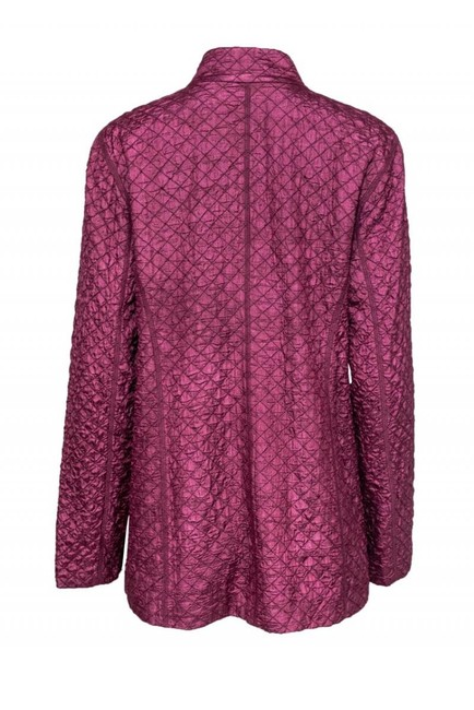 Eileen Fisher Mulberry Colored Quilted purple Jacket Image 2