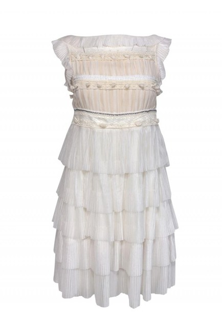 RED Valentino White Cocktail Dress Size 4 (S) RED Valentino White Cocktail Dress Size 4 (S) Image 1