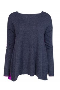 Autumn Cashmere Dark Grey Magenta Sweater