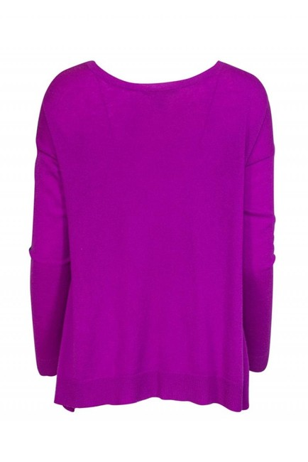 Autumn Cashmere Dark Grey Magenta Sweater Image 2