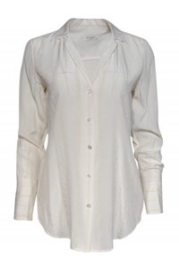 Equipment Shirts Silk Buttonup Top cream