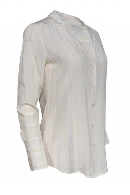 Equipment Shirts Silk Buttonup Top cream Image 1