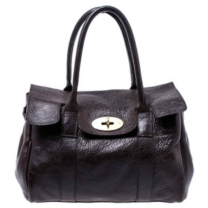 Mulberry Leather Bayswater Satchel in Brown