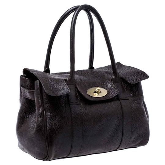 Mulberry Leather Bayswater Satchel in Brown Image 3