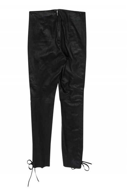 LPA Leather Laceup Straight Pants black Image 1