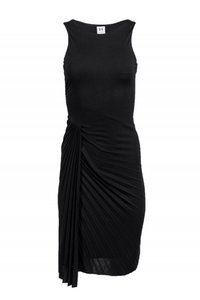 Halston Heritage short dress black Gowns Pleated Draped on Tradesy