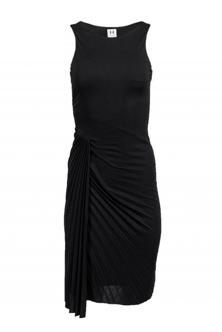 Halston Heritage short dress black Gowns Pleated Draped on Tradesy Image 0
