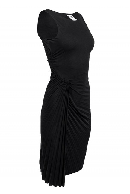 Halston Heritage short dress black Gowns Pleated Draped on Tradesy Image 1