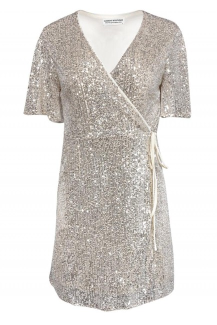 Item - Silver Cocktail Dress Size 12 (L)