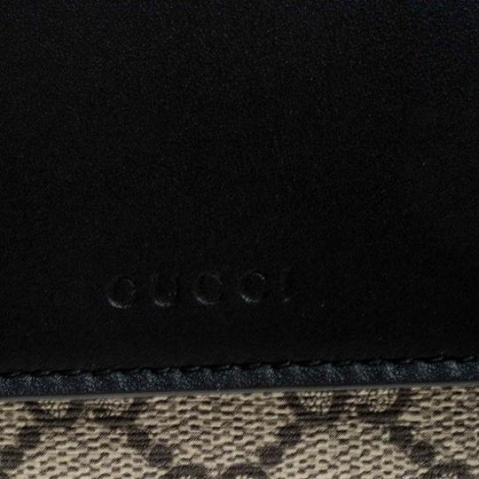 Gucci Beige/Black GG Supreme Canvas and Leather Flap Wallet Image 8