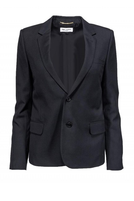 Preload https://img-static.tradesy.com/item/26472466/saint-laurent-black-blazer-size-8-m-0-0-650-650.jpg