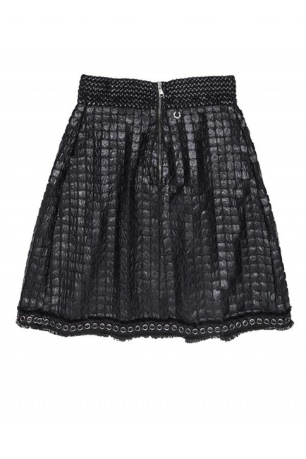 Save the Queen Vegan Leather Skirt black Image 1