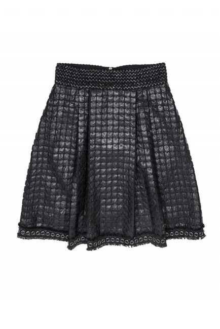Save the Queen Vegan Leather Skirt black Image 2