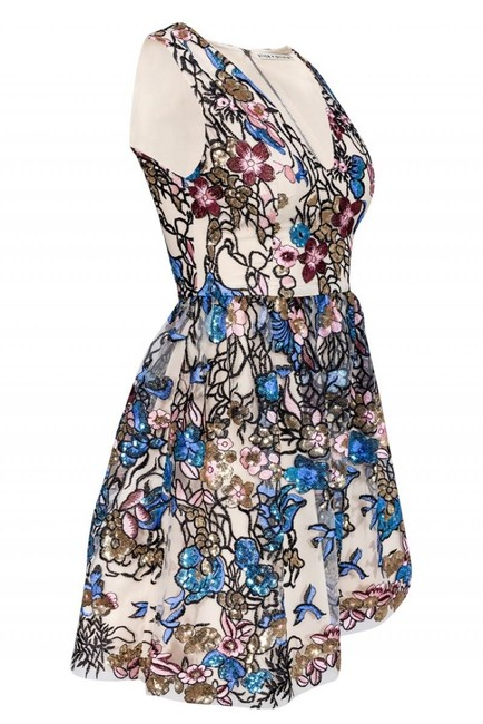 Alice & Olivia Multicolored Sequined Dress Image 1