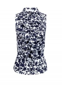 Anne Fontaine Shirts White Floral Top Black