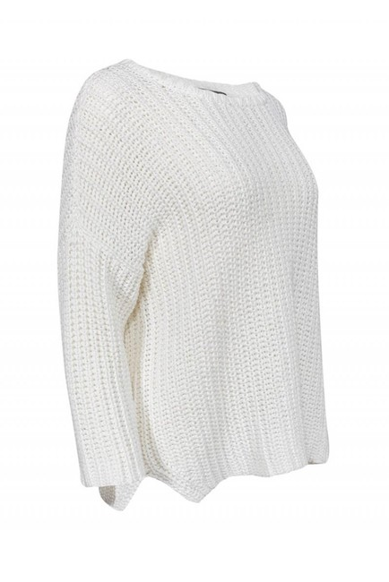 Eileen Fisher Chunky Cotton Sweater Image 1