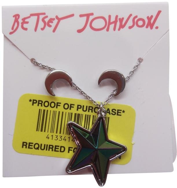 Item - Silver New Star and Moon Necklace & Earrings