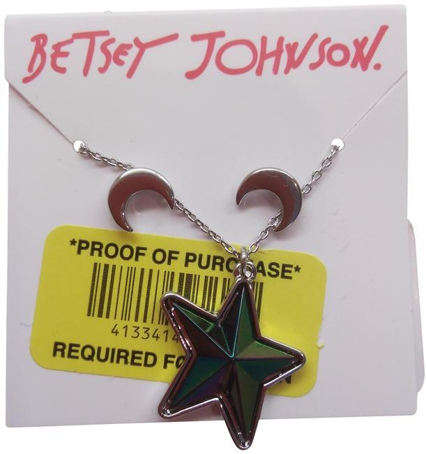 Item - Silver New Star and Moon Necklace & Er