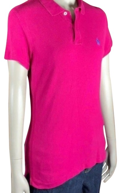 Item - Pink Women's Skinny Polo Tee Shirt Size 10 (M)