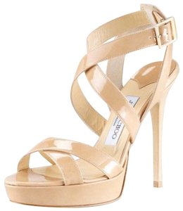 Jimmy Choo Sale Strappy nude patent Sandals