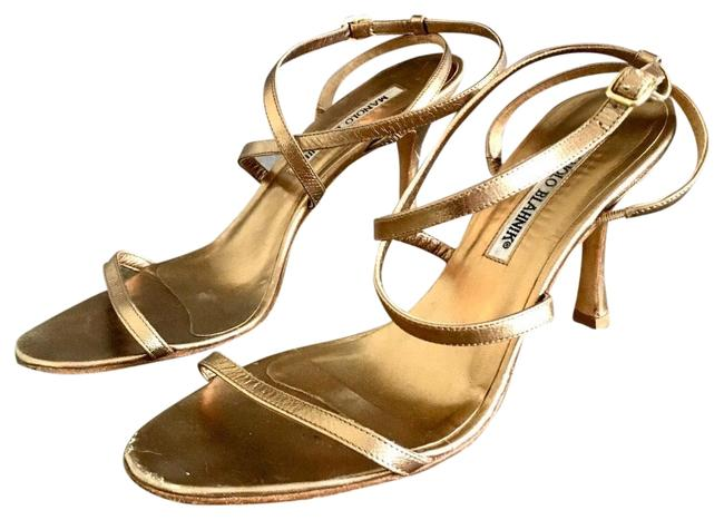 Item - Gold Sandals Size US 6.5 Regular (M, B)