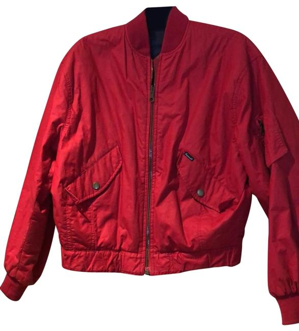 Item - Red Zippered Reversible Jacket Size 4 (S)