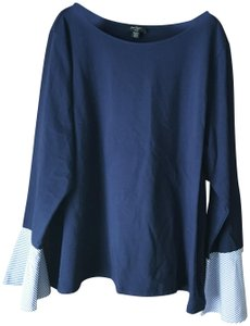 Lord & Taylor New With Tags Bell Cuffs Boat Neck Straight Hemline Cotton/Elastane Tunic