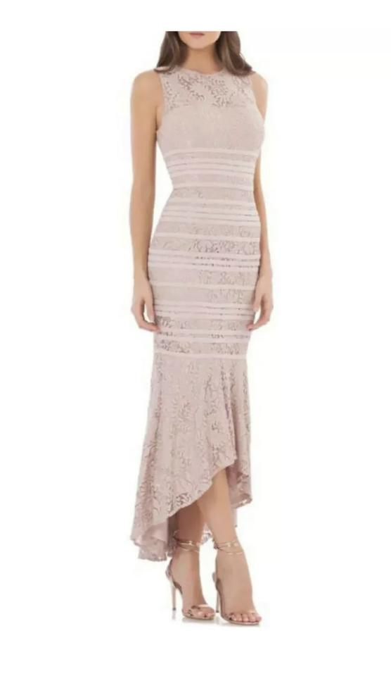 Js Collections Blush High Low Lace Gown Long Formal Dress Size 18 Xl Plus 0x 82 Off Retail