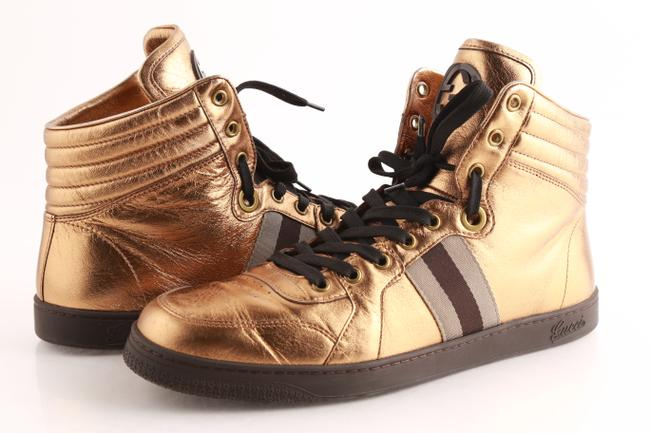 Item - Gold Limited Edition Metallic High-top Sneakers Shoes
