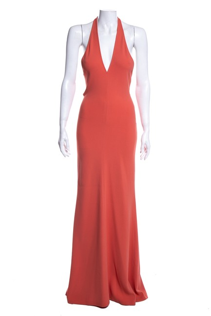 Item - Coral Stretch Halter Long Casual Maxi Dress Size 8 (M)