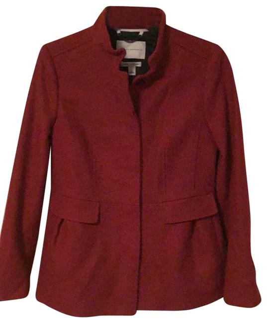 Item - Red Italian Wool Collection Coat Size 6 (S)